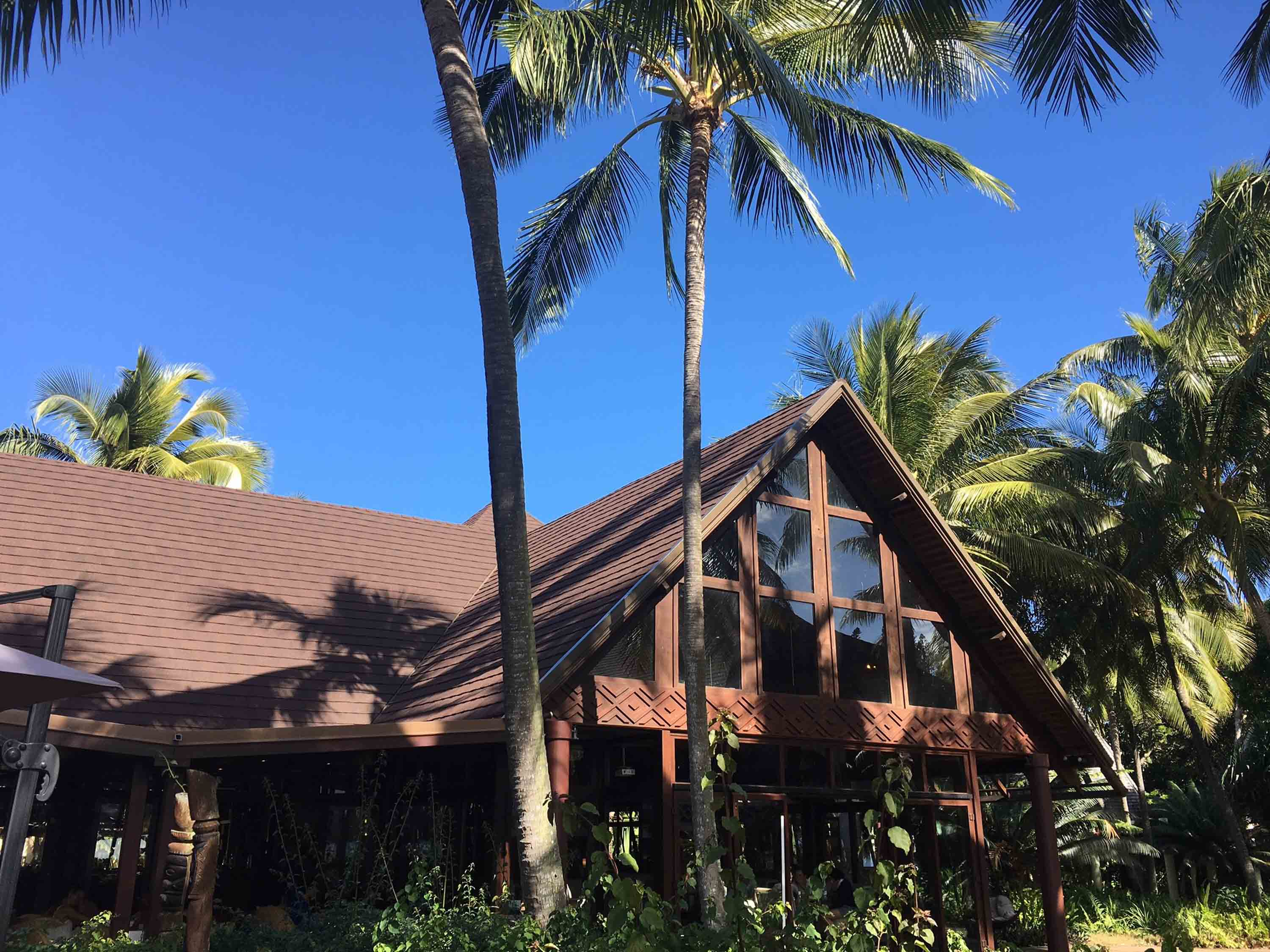 CF Slate, Walnut steel roof on resort